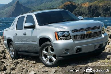 Insurance rates Chevy Avalanche in Albuquerque